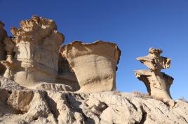 Ved stranden Bolnuevo finnes fantastiske erosjoner - skapt i sand av vind og vann gjennom tusenvis av år.