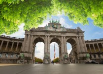 The Triumphal Arch - one of the architectural symbols of Brussels at summer, Belgium